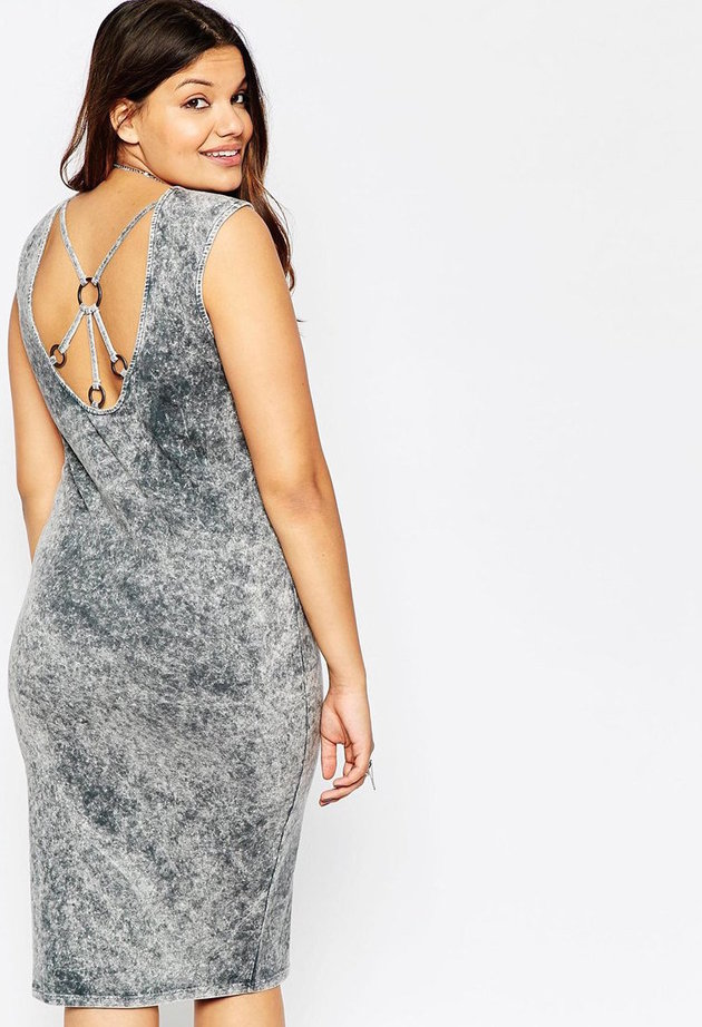 ASOS Curve - Body-Conscious with ring back dress, $54