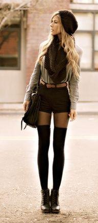 Black High-Waist Shorts