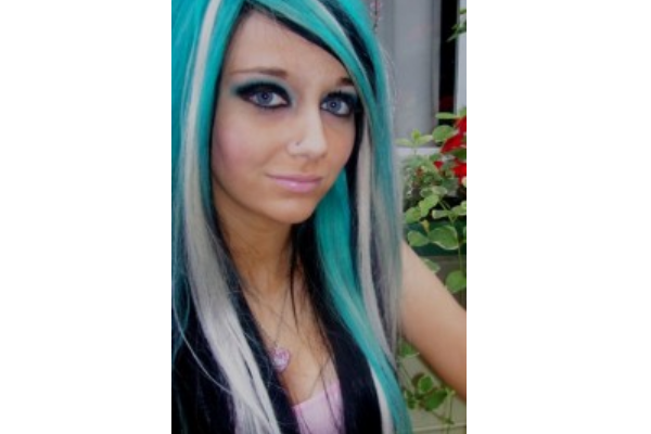 30 pretty blue hairstyles for women pretty designs blue and grey straight hair pmusecretfo Choice Image