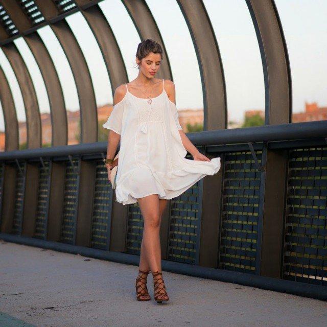 Boho Chic White Dress
