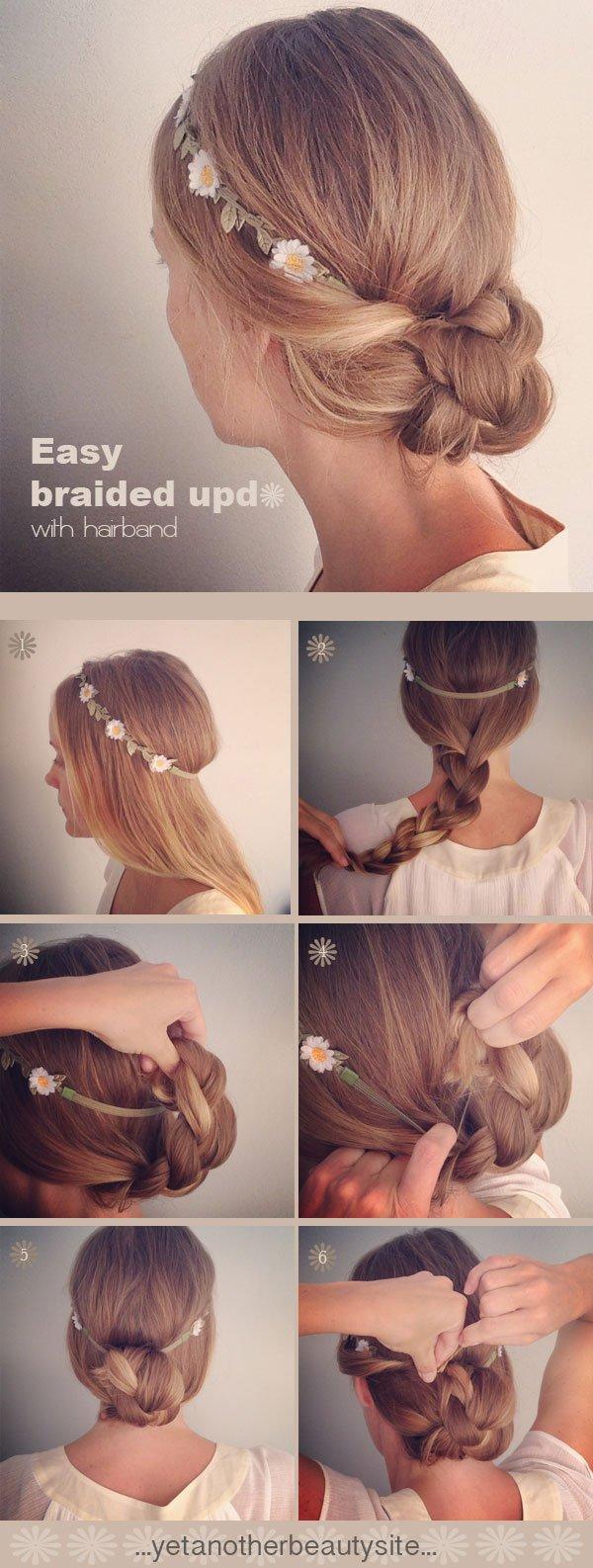 Braided Updo with Headband
