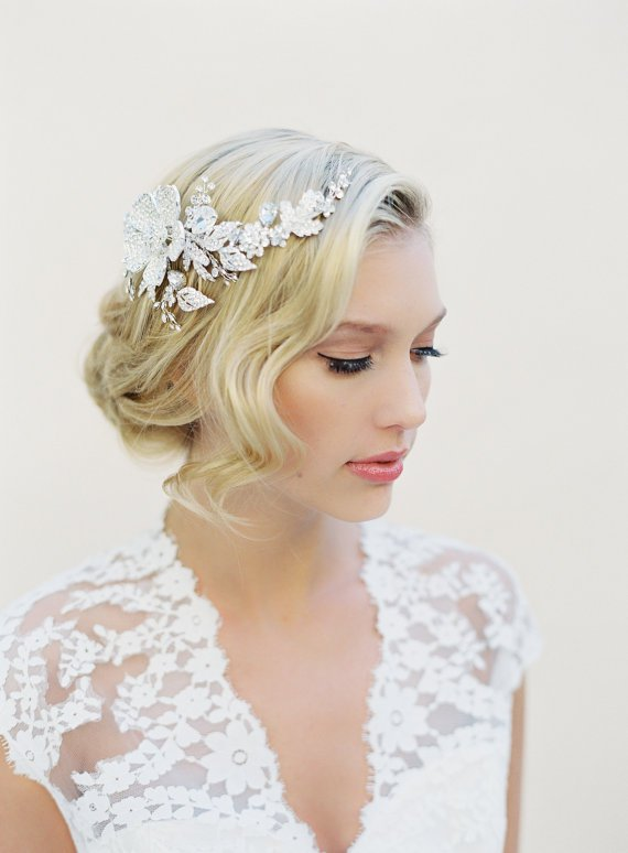 Groovy 20 Stunning Wedding Hairstyles With Veils And Hairpieces Pretty Hairstyles For Men Maxibearus