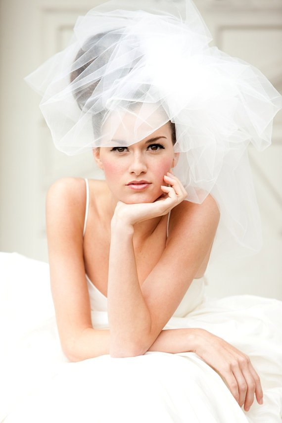 Wedding Updo Hairstyle With Veils