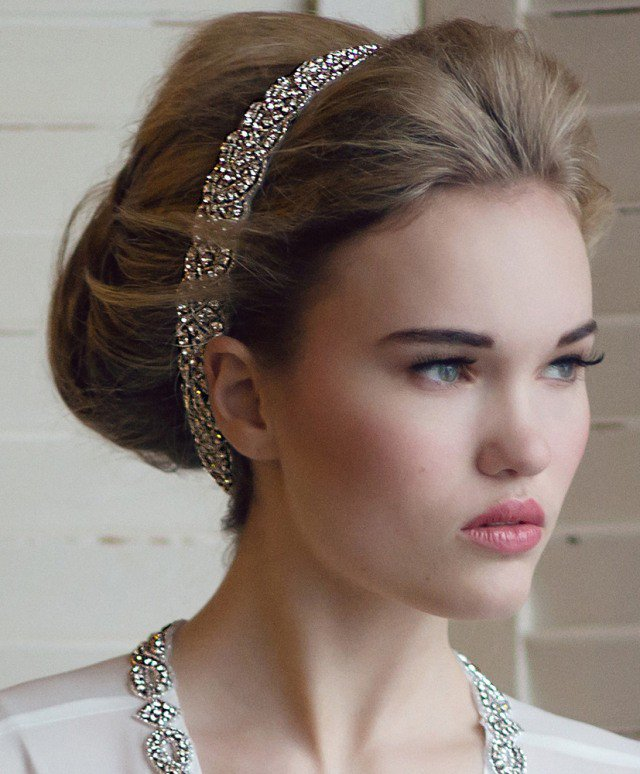 Bridal Updo Hairstyle With Headband