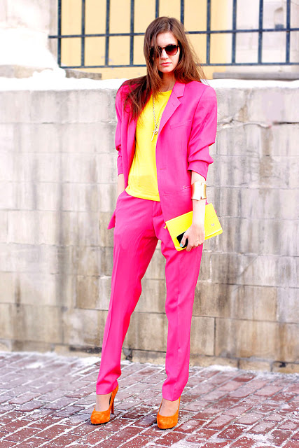 Bright Pink Suit
