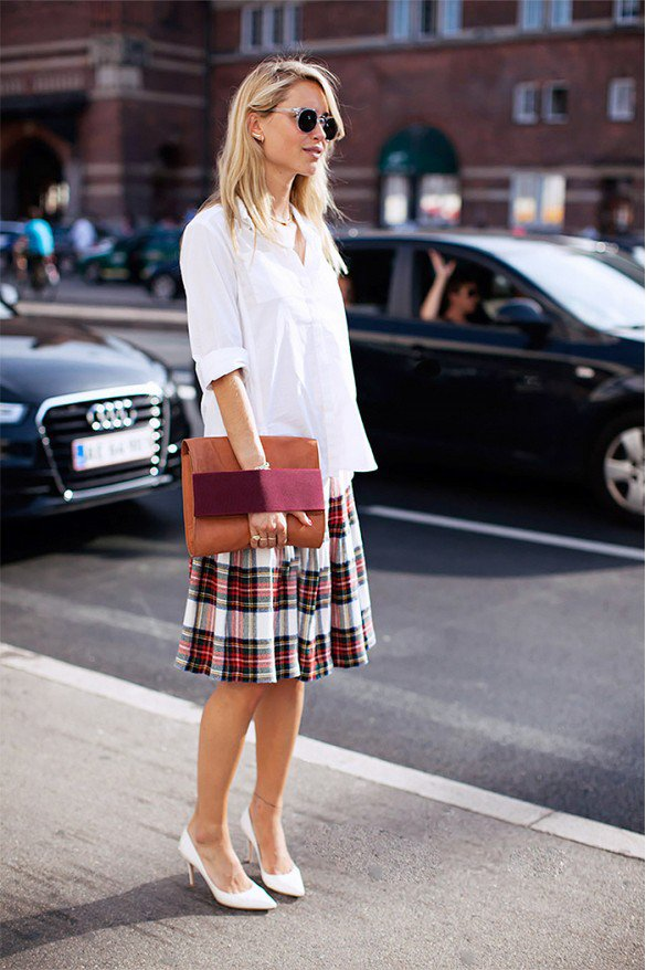 Checkered Print Mini Skirt