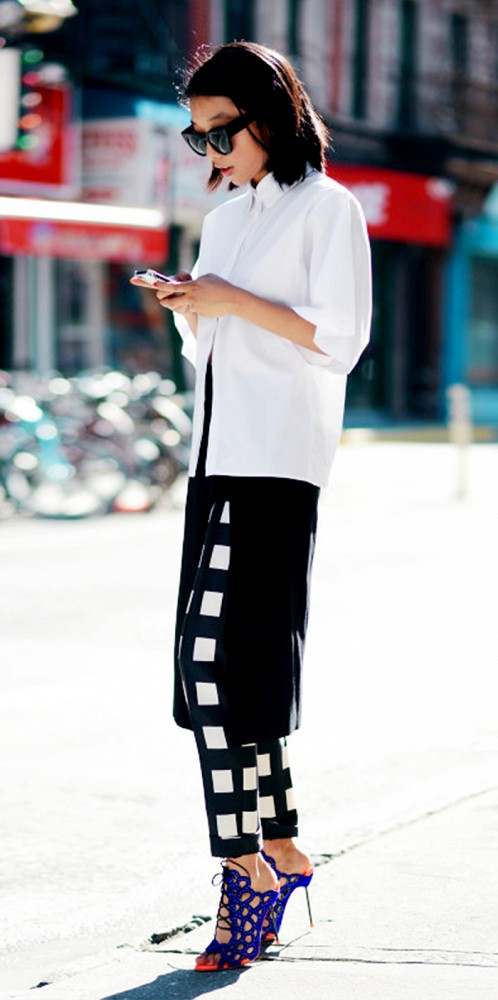 Checkered Print Pants