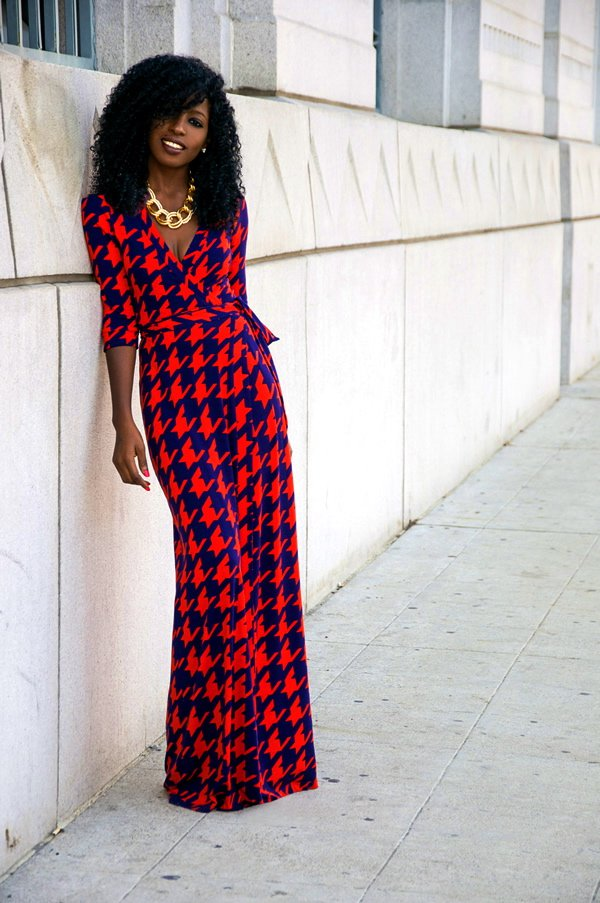 Checkered Maxi Dress