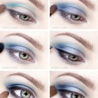 Deep Blue Eye Makeup Idea