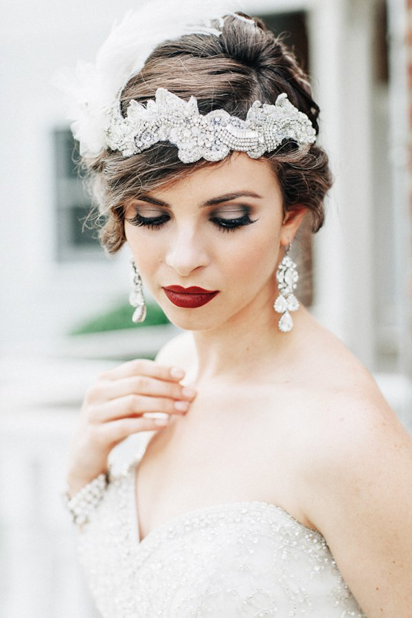 Deep Red Lips for Bridal Makeup Ideas
