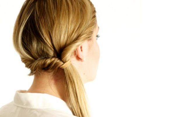 Double Twisted Side Ponytail