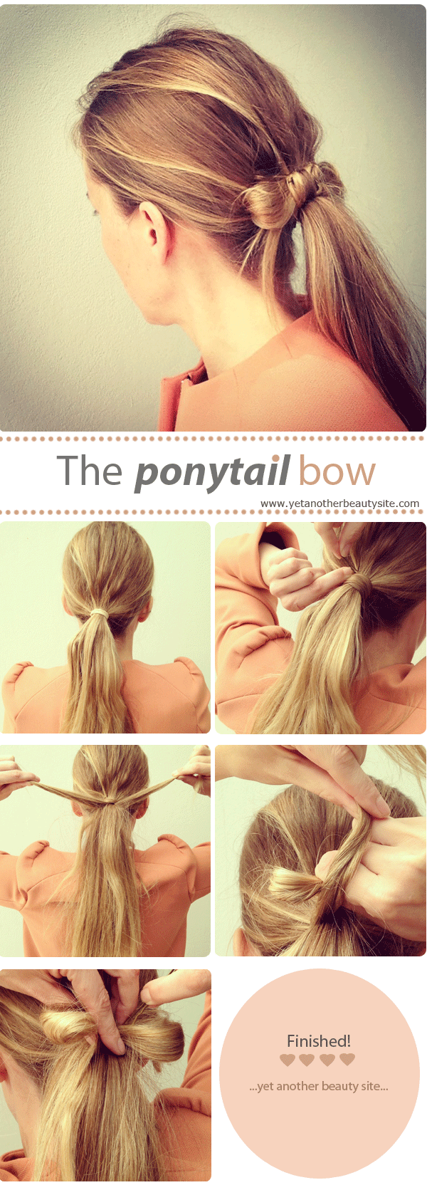 Easy Low Ponytail with Hair Bow