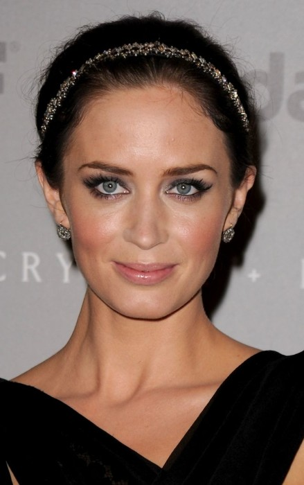 Emily Blunt Sleek Bun Hairstyle