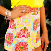 Floral Print High-Waisted Shorts