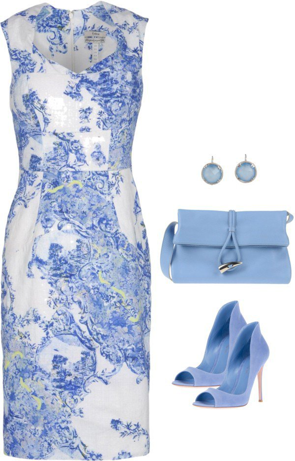 Fresh White and Blue Outfit Idea