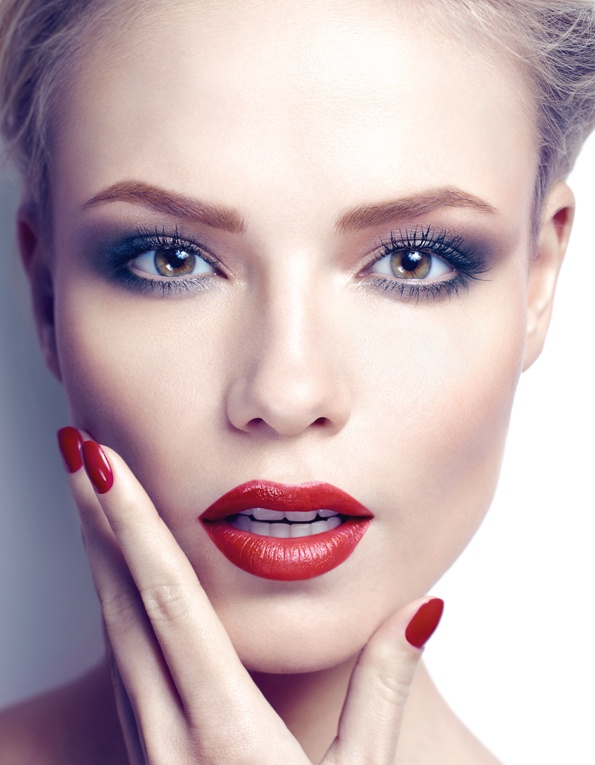 Hot Red Lips for Bridal Makeup Ideas