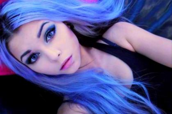 Lavender and Light Blue Hair