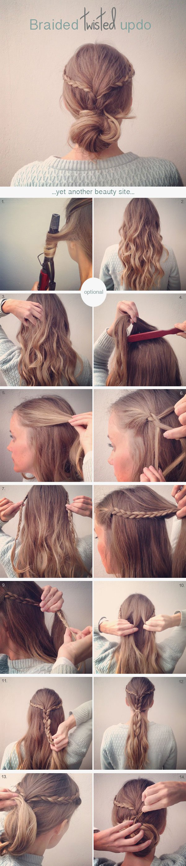 Loose Twisted Updo with Braid