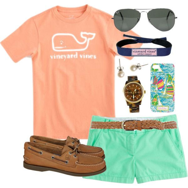 Lovely Orange T-Shirt and Mint Shorts