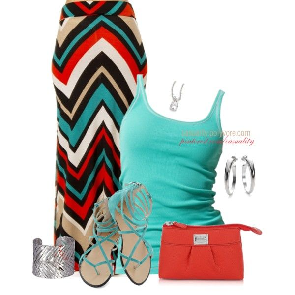 Mint T-Shirt and Maxi Pencil Skirt