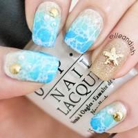 Ocean Inspired Nail Art Design