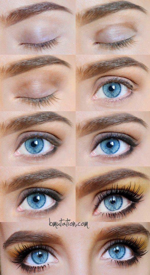 Orange Eye Makeup Idea