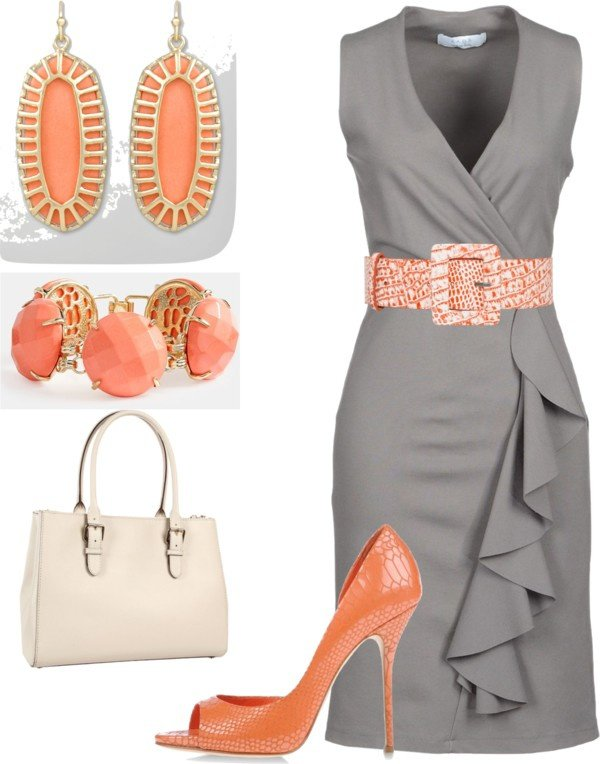 Perfect Gray and Orange Combination