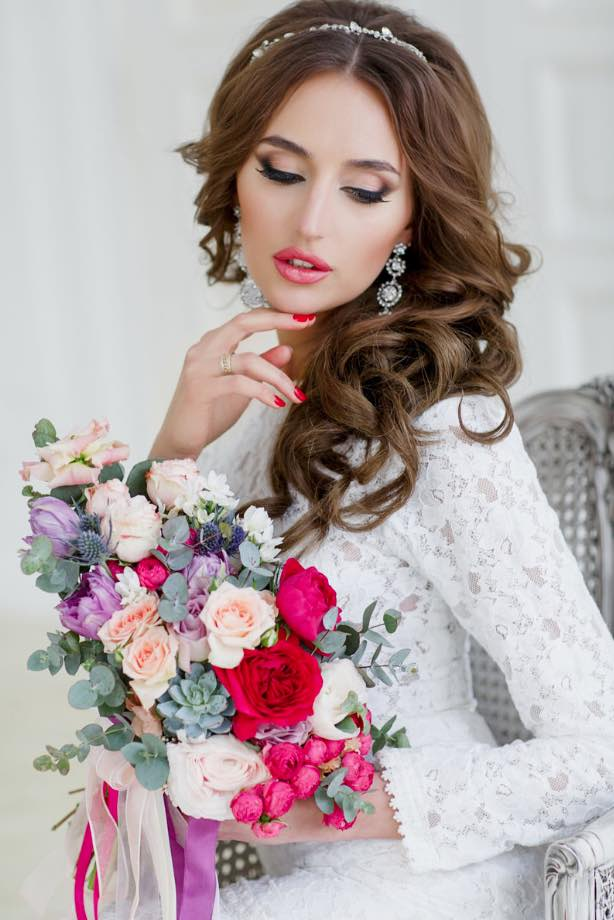 Pink Lips for Bridal Makeup Ideas