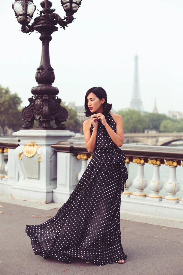 Polka-Dot Maxi Dress