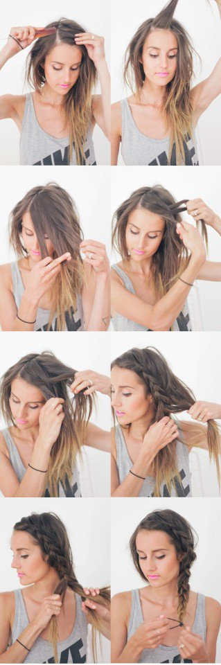 Side Braided Hairstyle for Everyday Look