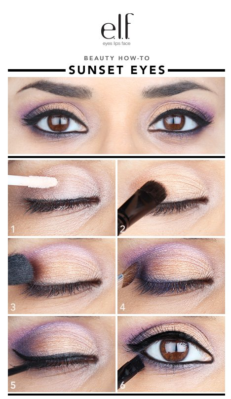 Sunset Eyeshadow Makeup Idea
