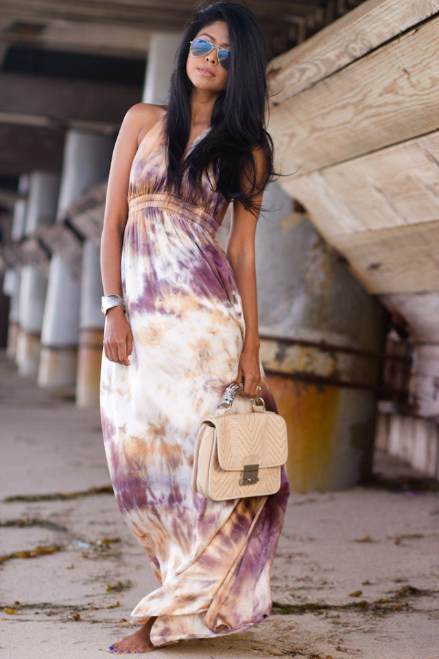 Tie-dyed Maxi Dress