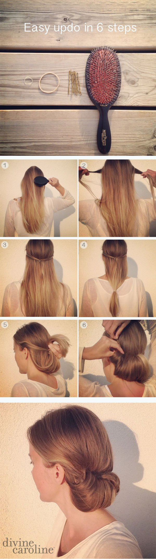 Tucked Updo Hairstyle Tutorial