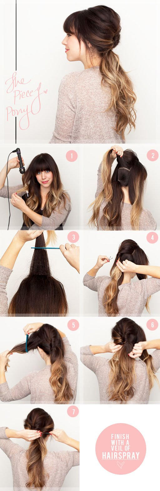 Twisted Ponytail Hairstyle Tutorial