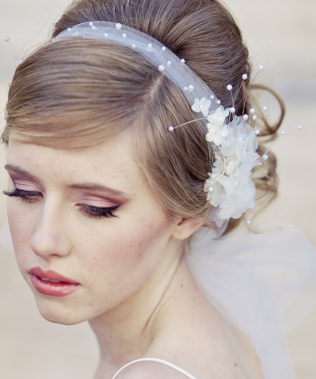 Wedding Updo Hairstyle With Headband