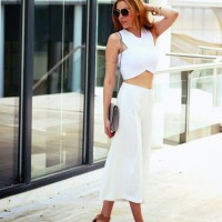 White Crop with Dress