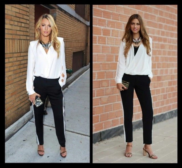 White Top with Black Pants
