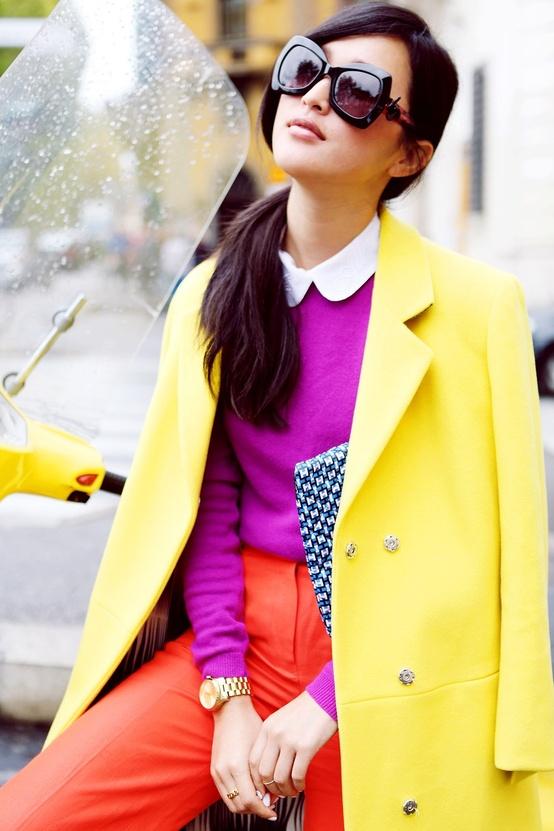Yellow Blazer and Orange Pants