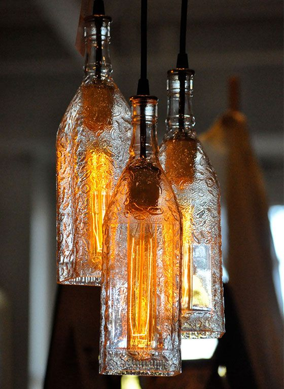 glass bottle lighting painted stylish bottle lights 10 diy light ideas pretty designs