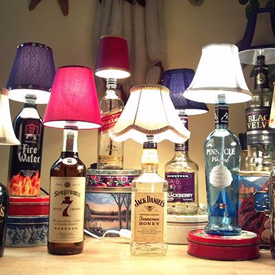Homemade Bottle Lamp