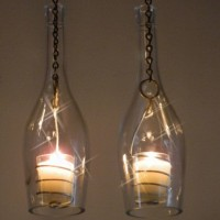 Wine Bottle Hanging Lanterns