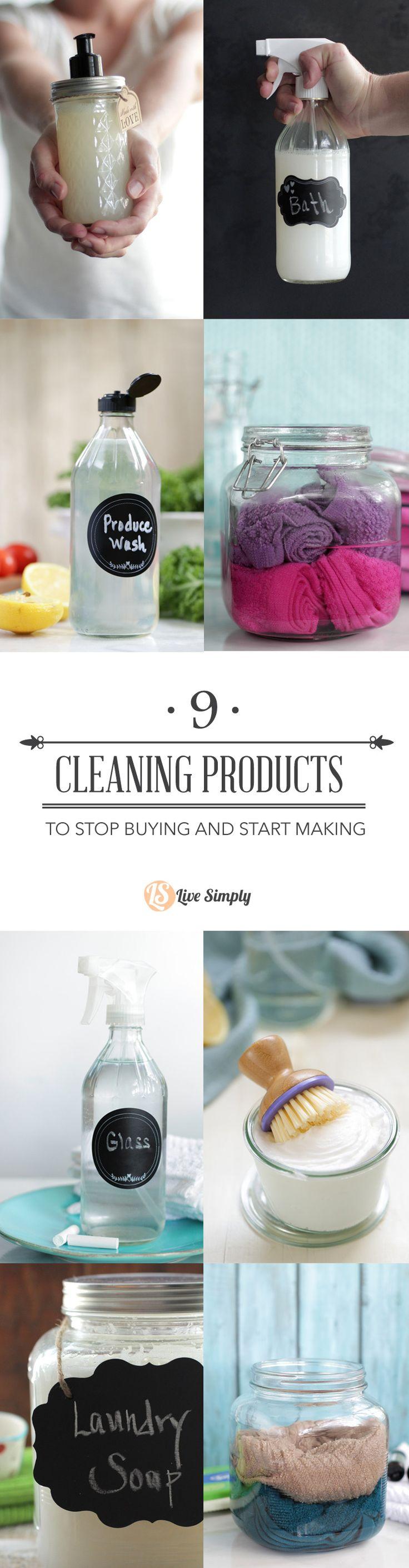 10 Homemade Cleaner Tips