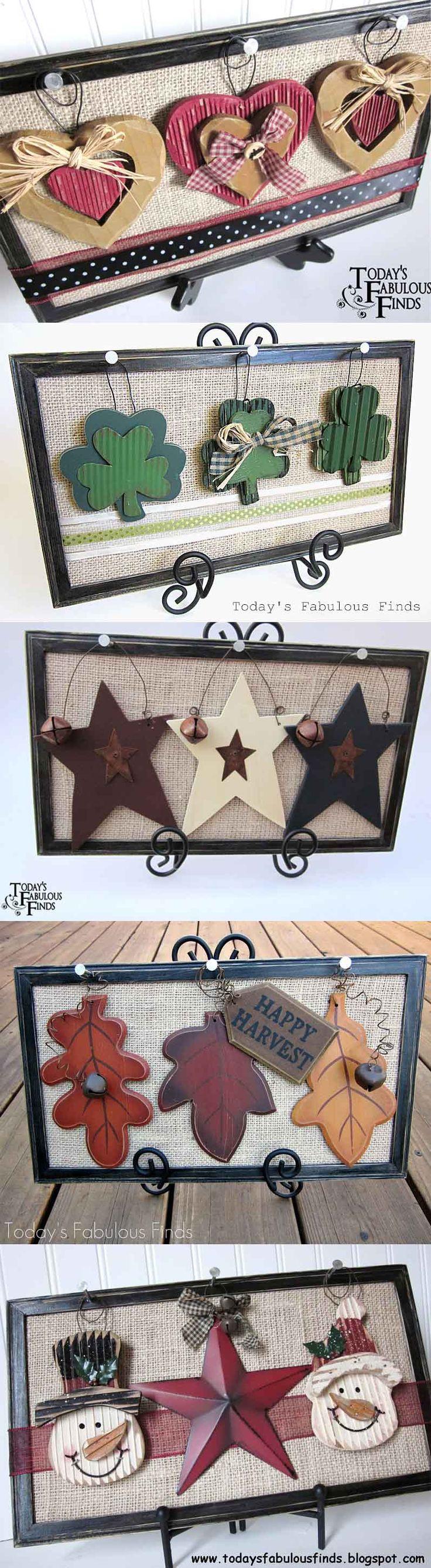 Burlap Frames