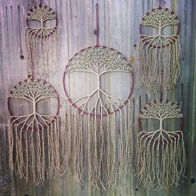 15 crochet dream catcher ideas pretty designs for Ideas for making dream catchers