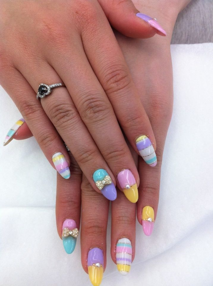 15 Cute Nail Designs for Long Nails - Pretty Designs