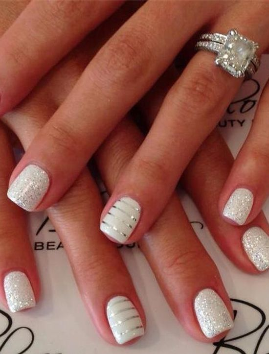 15 Fabulous Wedding Nail Ideas - Pretty Designs