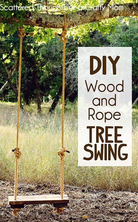 Wood and Rope Tree Swing