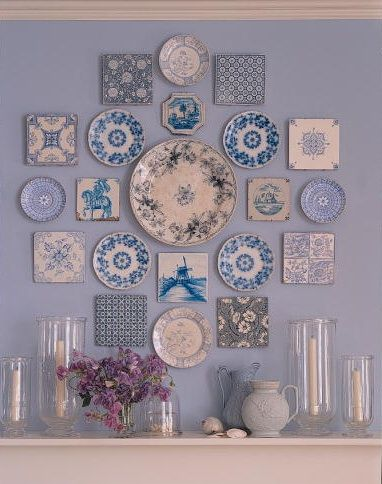 Blue Plate Wall