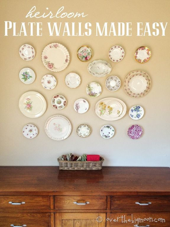 15 Ways to Make a Plate Wall - Pretty Designs