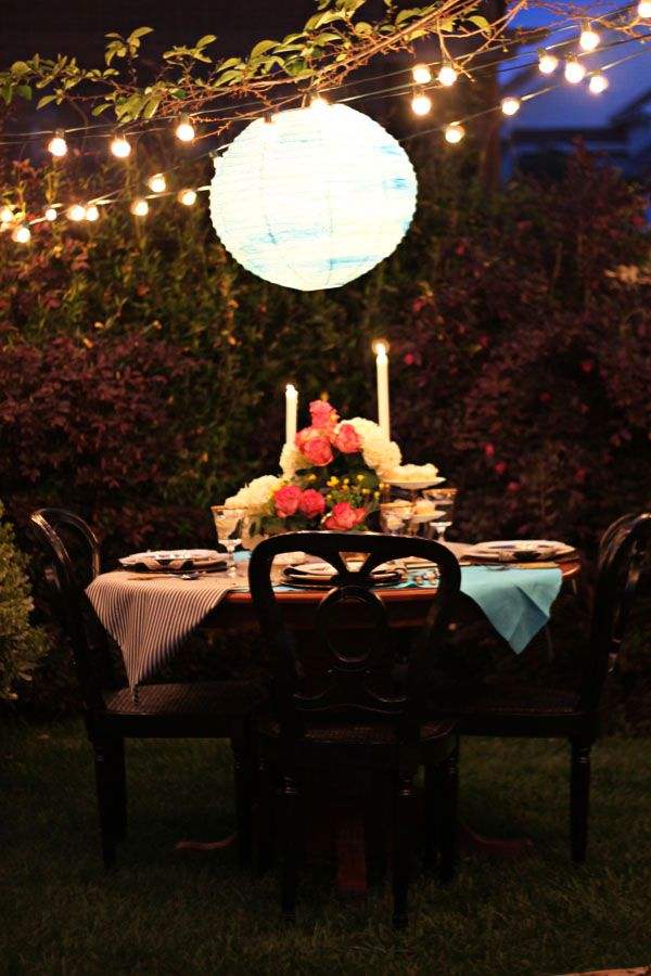 20 Ideas to Set a Romantic Table - Pretty Designs on Romantic Backyard Ideas id=22046